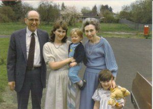 Grandma, Grandpa, Mom, Grant and me